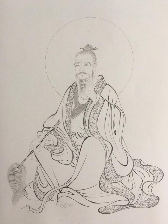 中国画创作(《千古英雄人物系列》):张三丰 诸葛孔明(白描)