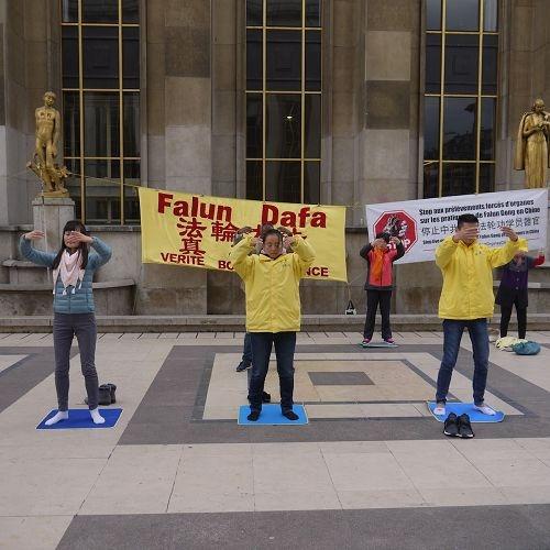 来自巴黎人权广场上的民众的支持
