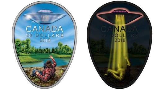 加拿大推出限量版新硬币纪念猎鹰湖UFO事件