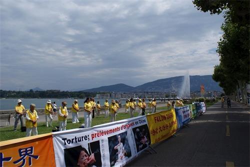 欧洲法轮功学员反迫害十九年集会 各界政要支持
