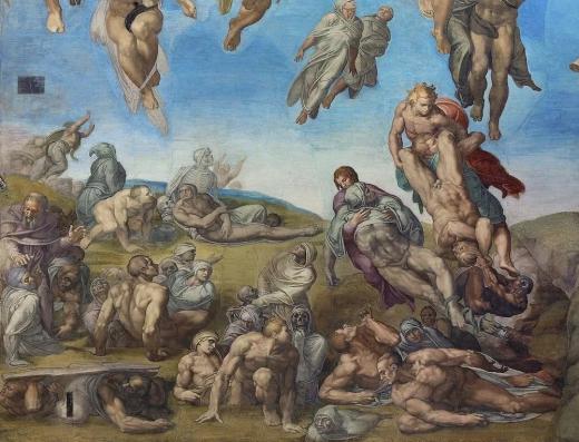不同世界来的神和天人从地上及地狱里救了很多活着的或死去等待转生的生命